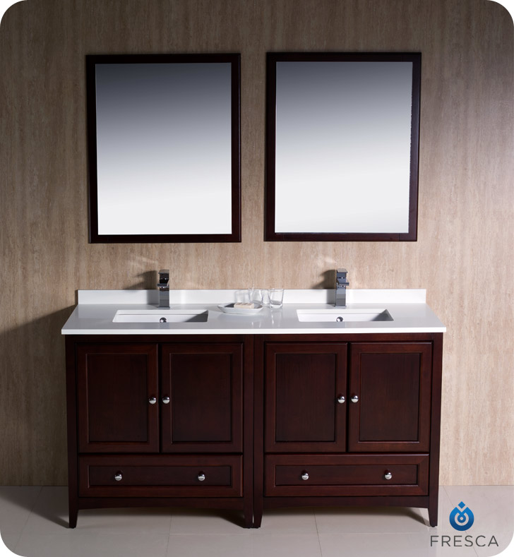 mahogany bathroom cabinet fresca oxford collection 60 quot mahogany traditional 13567