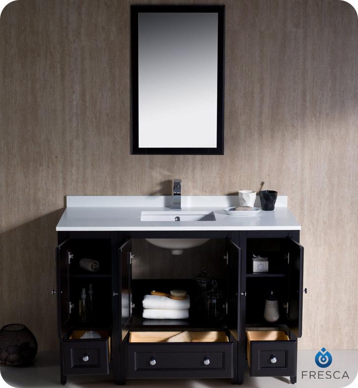 Fresca Oxford Traditional Bathroom Vanity Espresso Finish Two - 44 inch bathroom vanity for bathroom decor ideas
