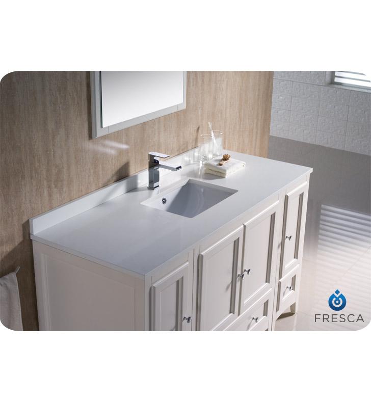 Fresca Oxford 54 Quot Traditional Bathroom Vanity Antique