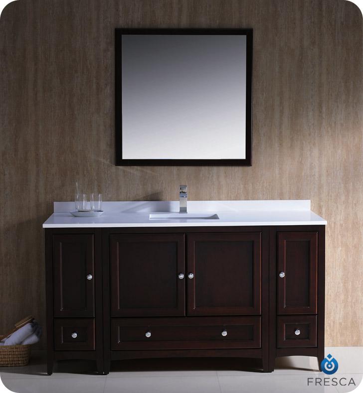 fresca oxford 60 traditional bathroom vanity mahogany