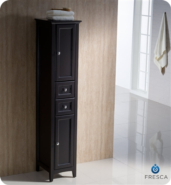 60 traditional bathroom vanity espresso finish two side cabinets