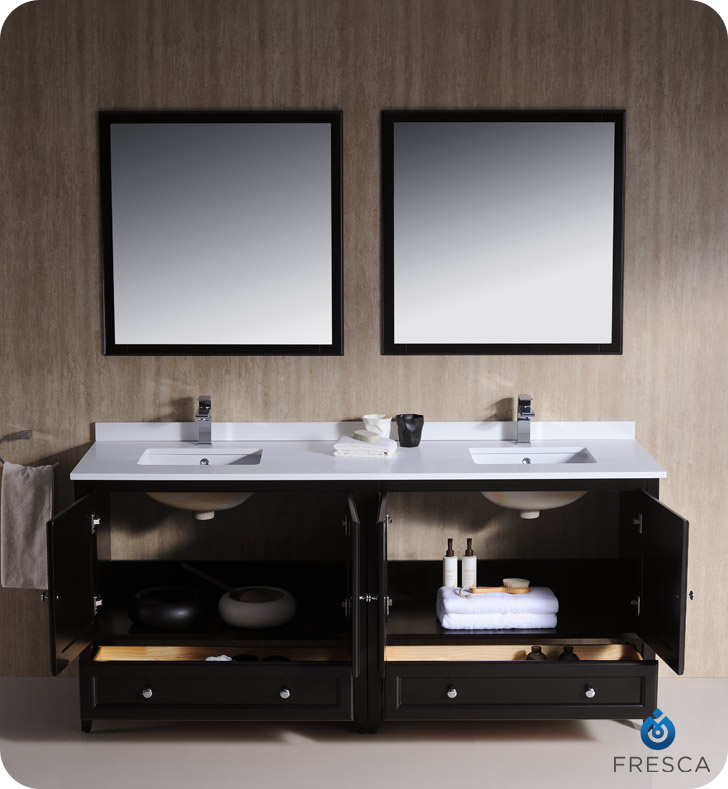 spectacular bathroom vanities brampton. Fresca Oxford 72 Double Sink Bathroom Vanity Espresso Finish  Home Design Plan