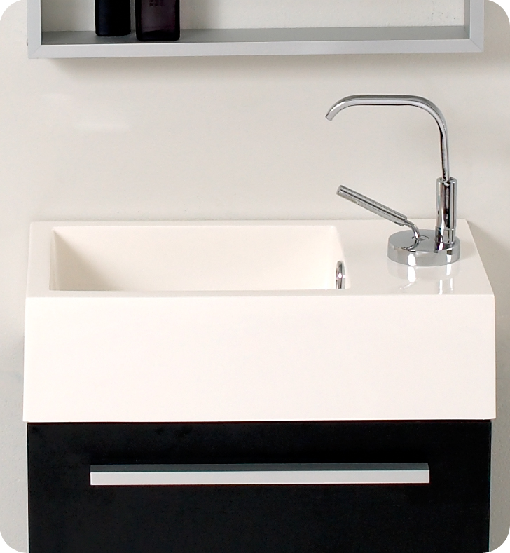 Fresca Pulito Small Black Modern Bathroom Vanity Fresca Pulito Small Black  Modern Bathroom Sink ...