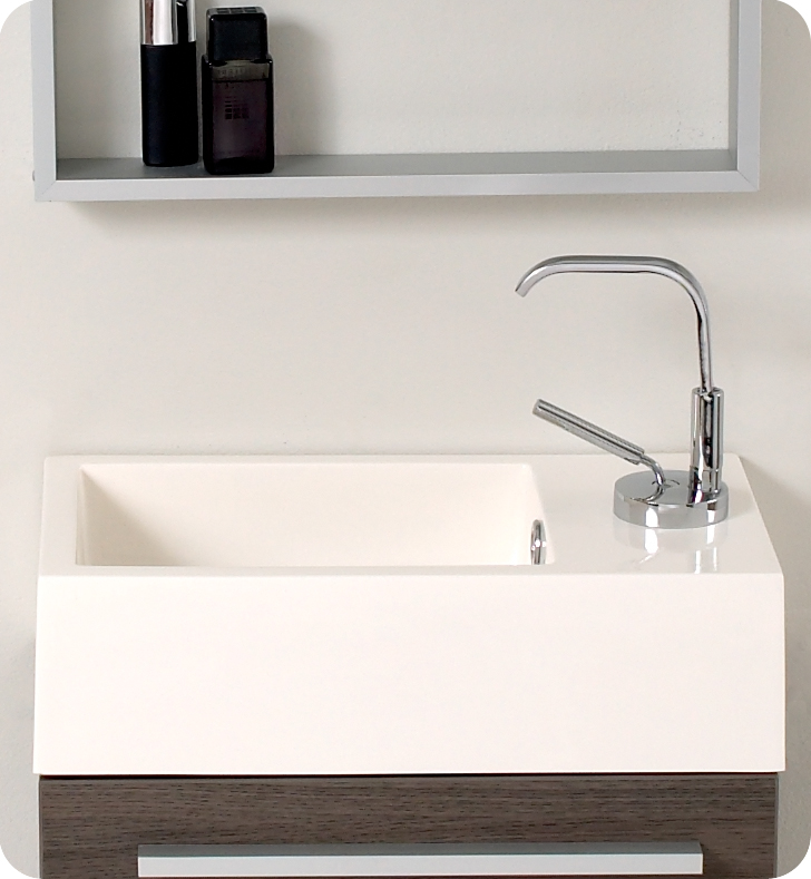 Modern Bathroom Vanities Small fresca pulito small gray oak modern bathroom vanity