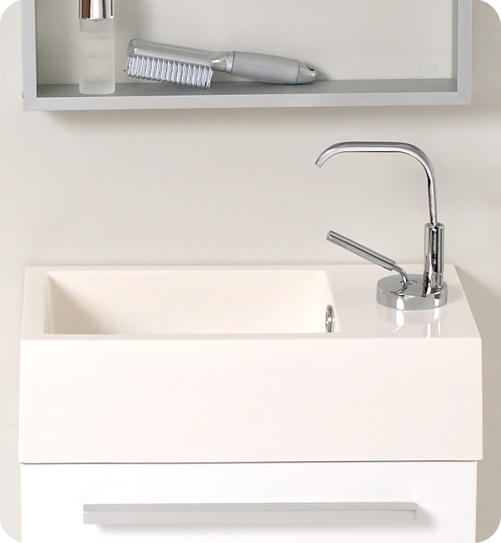 ... Fresca Pulito Small White Modern Bathroom Sink ...