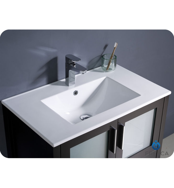 Fresca Torino 30 Espresso Modern Bathroom Vanity with Undermount Sink