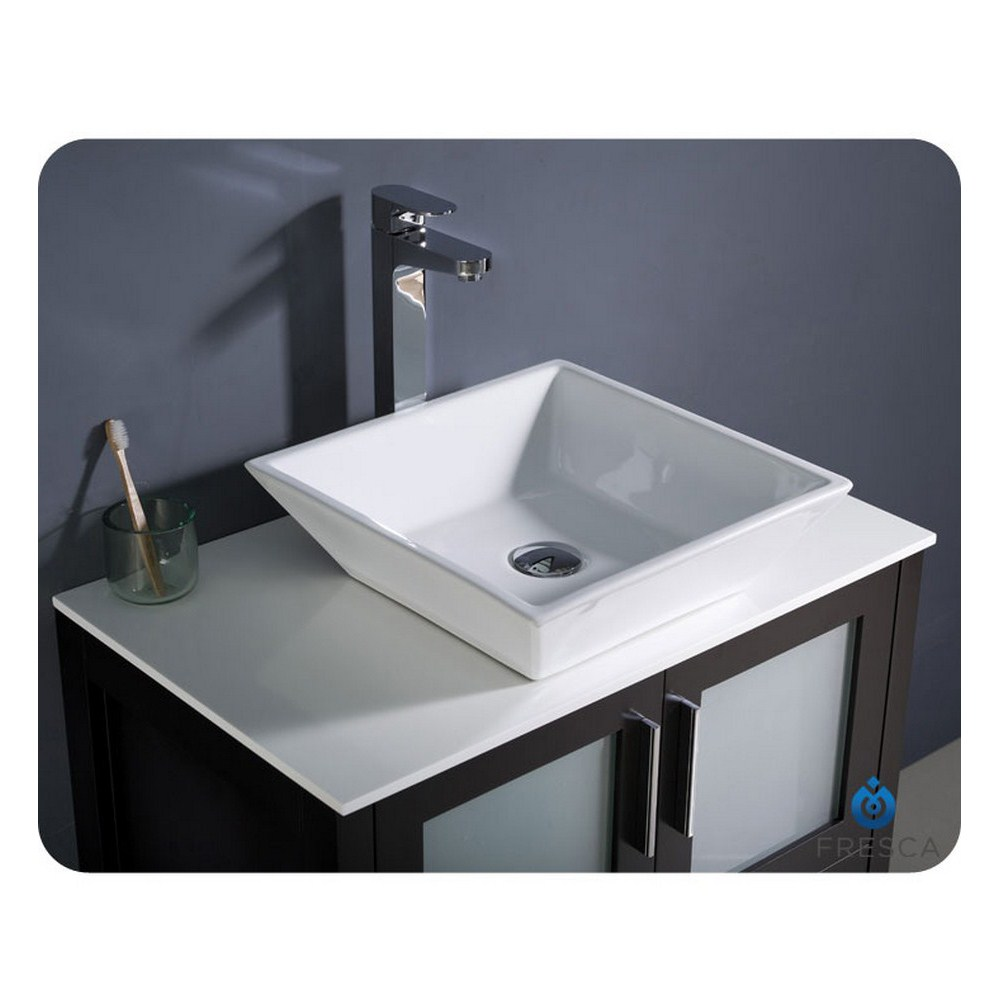 fresca torino 30 espresso modern bathroom vanity with vessel sink
