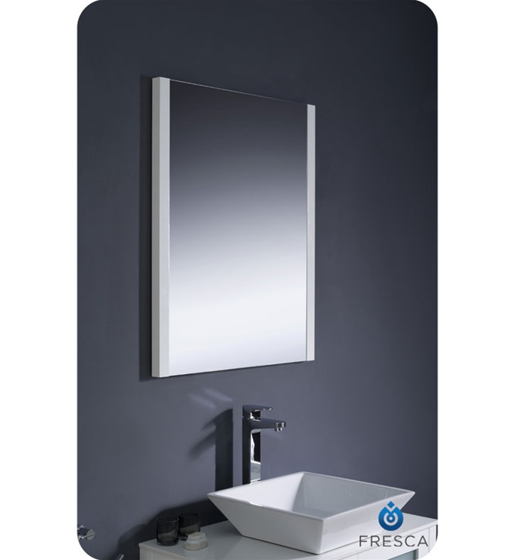 Fresca Torino 30 White Modern Bathroom Vanity Vessel Sink  Modern Design  Bathroom Mirror Bathroom Furniture. Latest Bathroom Mirror Designs