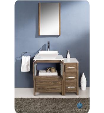 Fresca Torino 36 Walnut Modern Bath Vanity Side Cabinet