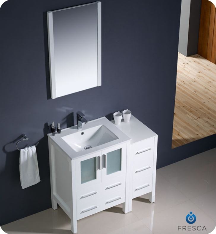 bathroom vanities with side cabinets fresca torino 36 quot modern bathroom vanity with color 11772