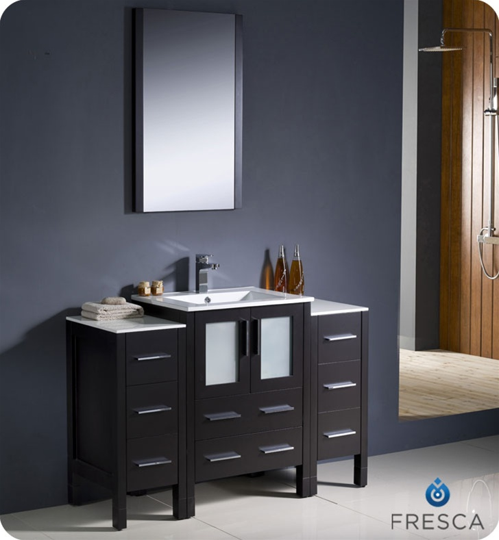 fresca torino  quot  espresso modern bathroom vanity with two side  Home design. 48 Espresso Bathroom Vanity   House Decor Ideas