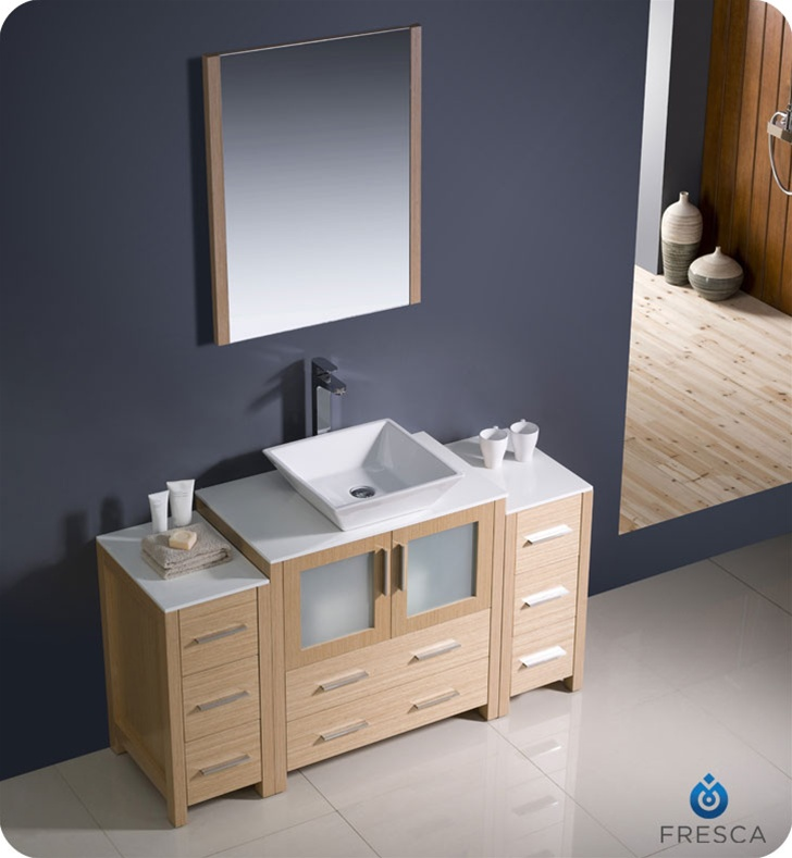 bathroom cabinets with light fresca torino 54 quot modern bathroom vanity vessel sink with 15677