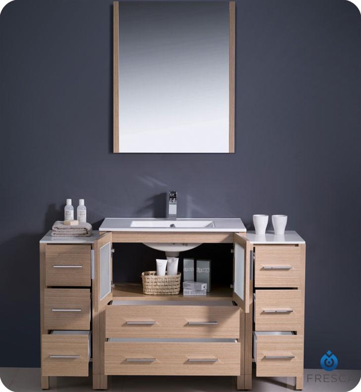 Fresca Torino 54 Light Oak Bathroom Cabinet