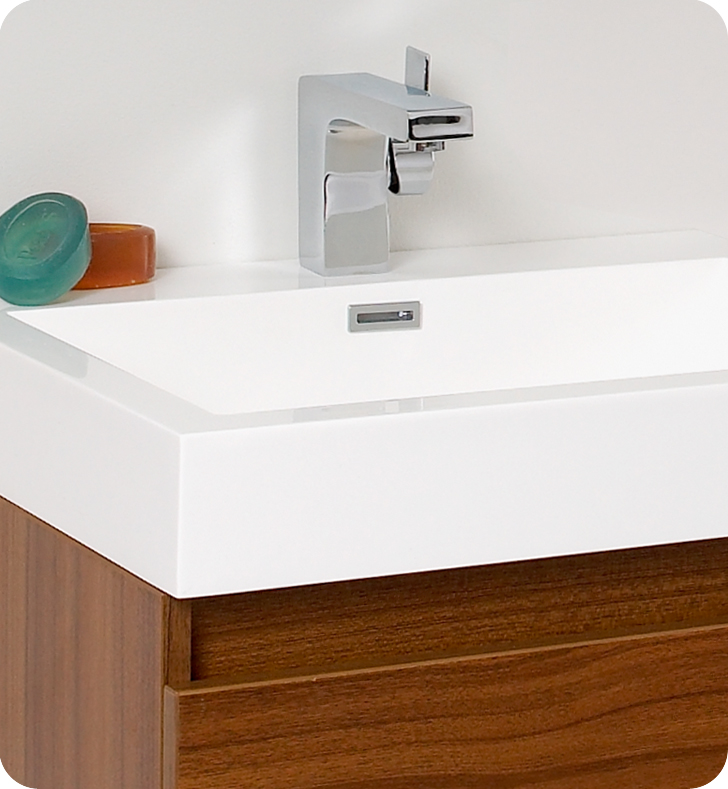 ... Fresca Nano Teak Modern Bathroom Faucet ...