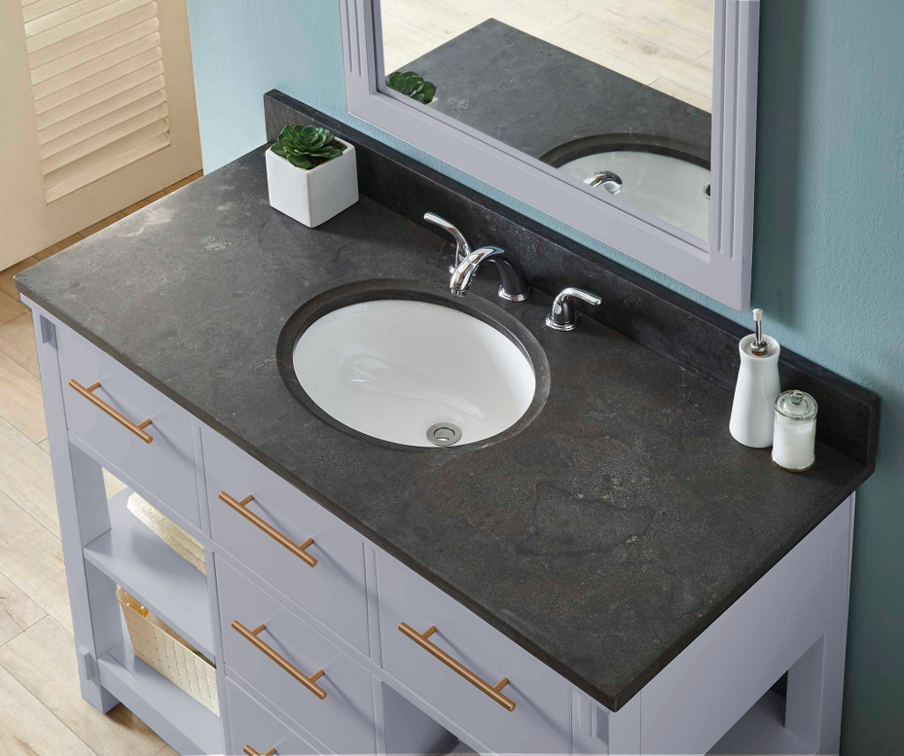 48 Quot Single Sink Bathroom Vanity In Grey Finish With