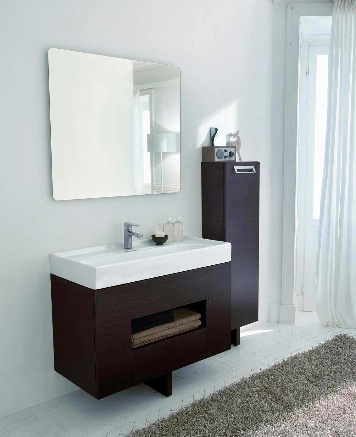 LaToscana Open Bathroom Vanity with Ceramic Sink