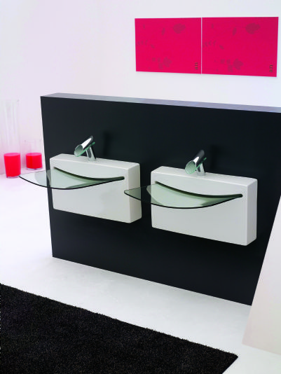 ... LaToscana Wall Mounted Crystal Wall Bathroom Sinks