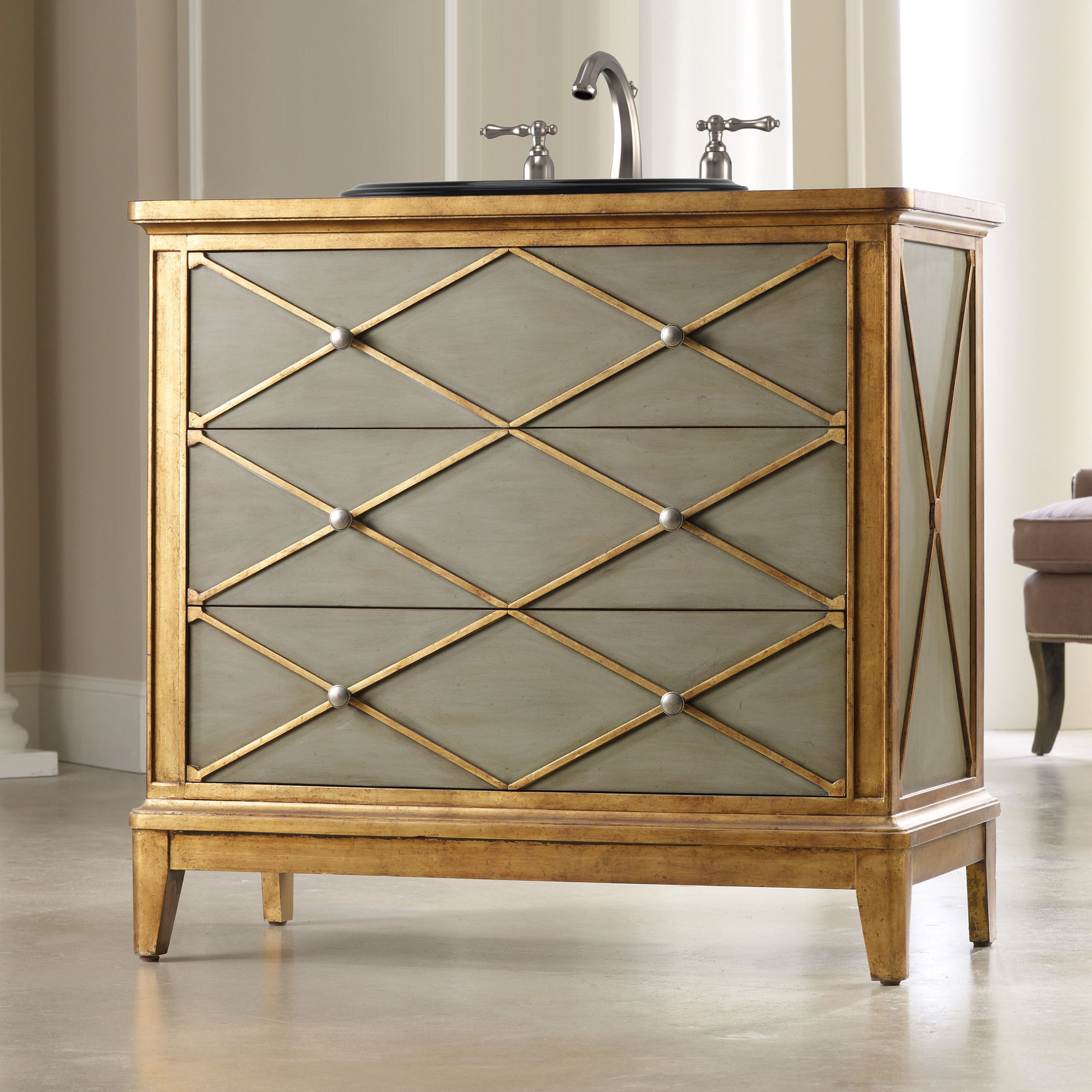Lauren 42 inch Hall Chest Bathroom Vanity by Cole & Co Designer