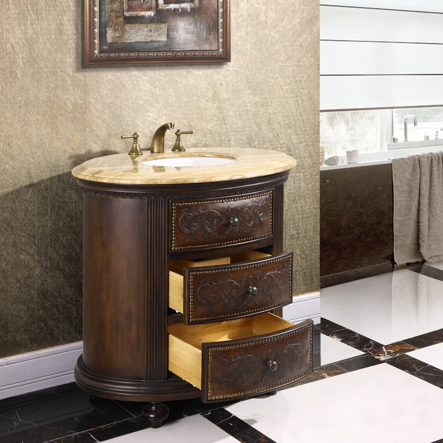 Decorative Bath Cabinets : Decorative vanity cabinet crestwood inch marble top