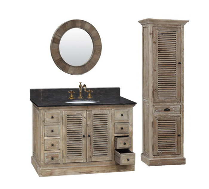 Legion 48 Inch Rustic Single Sink Bathroom Vanity Wk1948