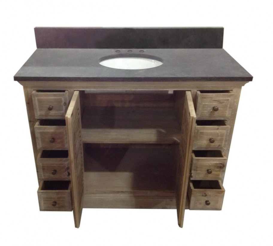 Legion 48 inch rustic single sink bathroom vanity wk1948 48 inch bathroom vanity