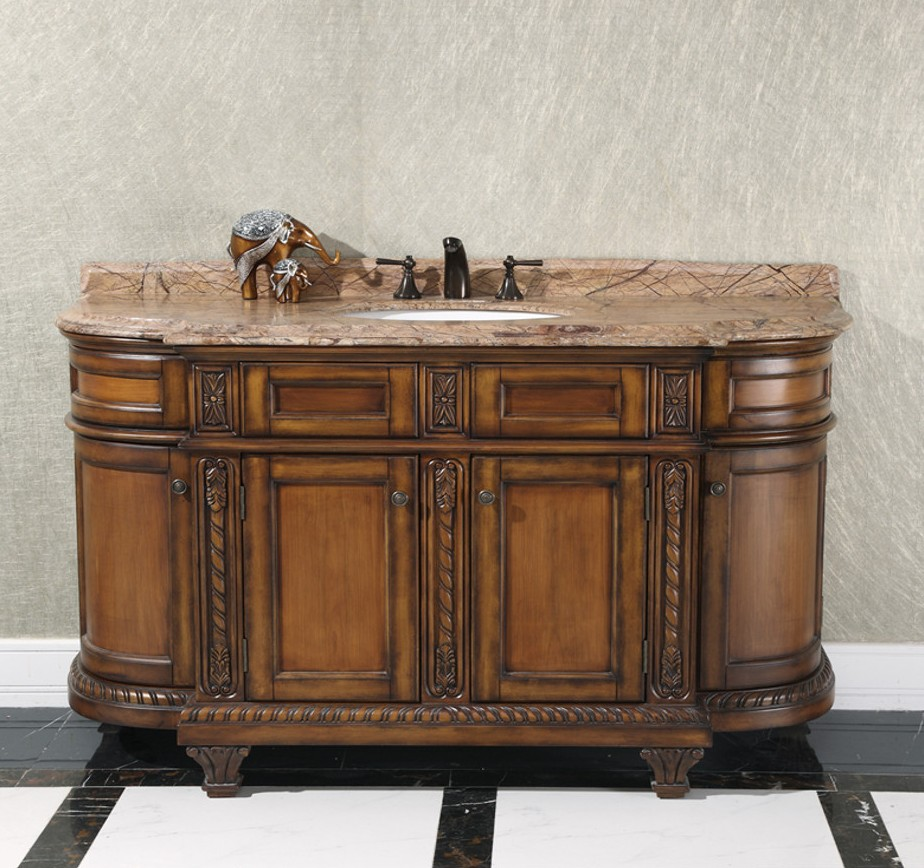 decorative executive 60 inch bathroom vanity cabinet