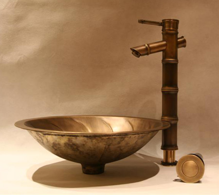 Solid Brass Sink and Faucet ZCOP Set