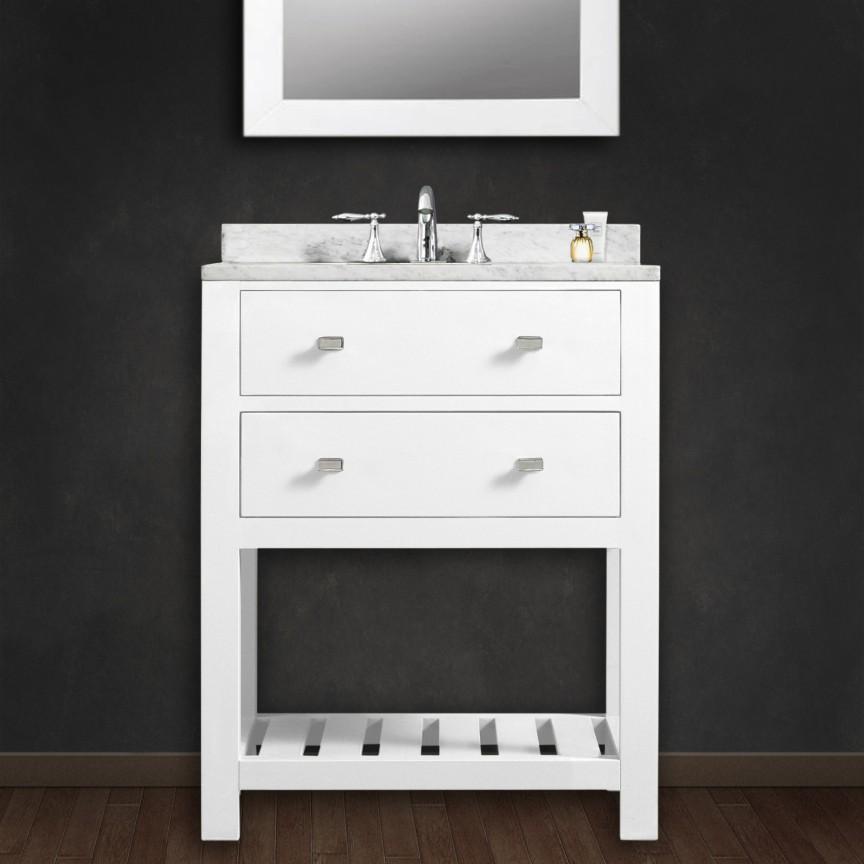 madalyn 24 inch white single sink bathroom vanity