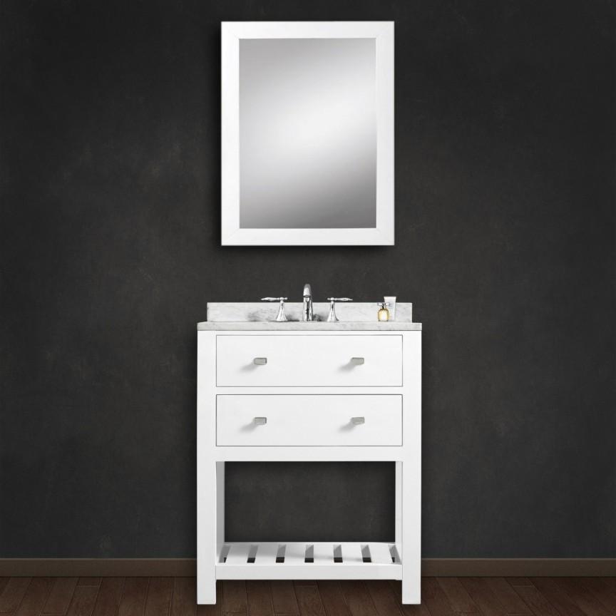 ... Vanity Cabinet Madalyn 24 Inch White Single Sink Bathroom Cabinet