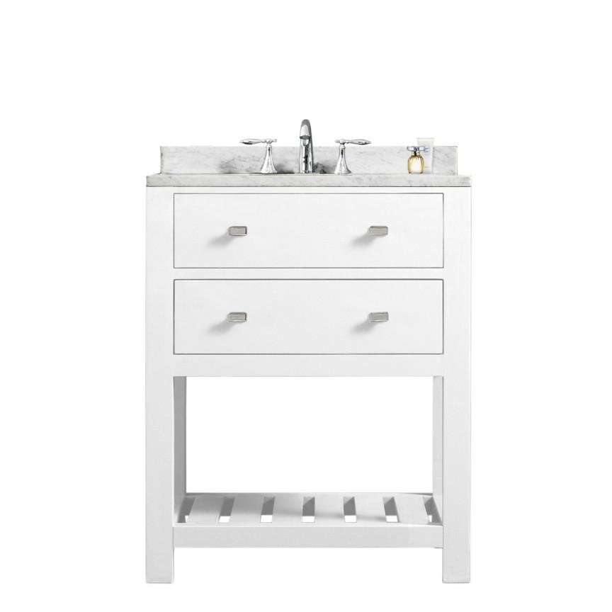 24 Inch White Single Sink Bathroom Vanity