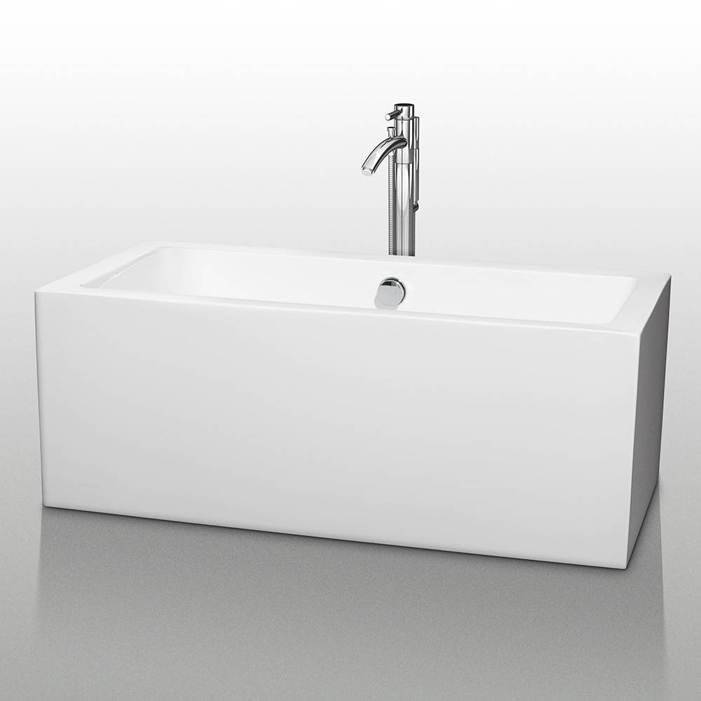 48 inch freestanding tub.  Melody 60 Inch White Soaking Bathtub Acrylic Construction