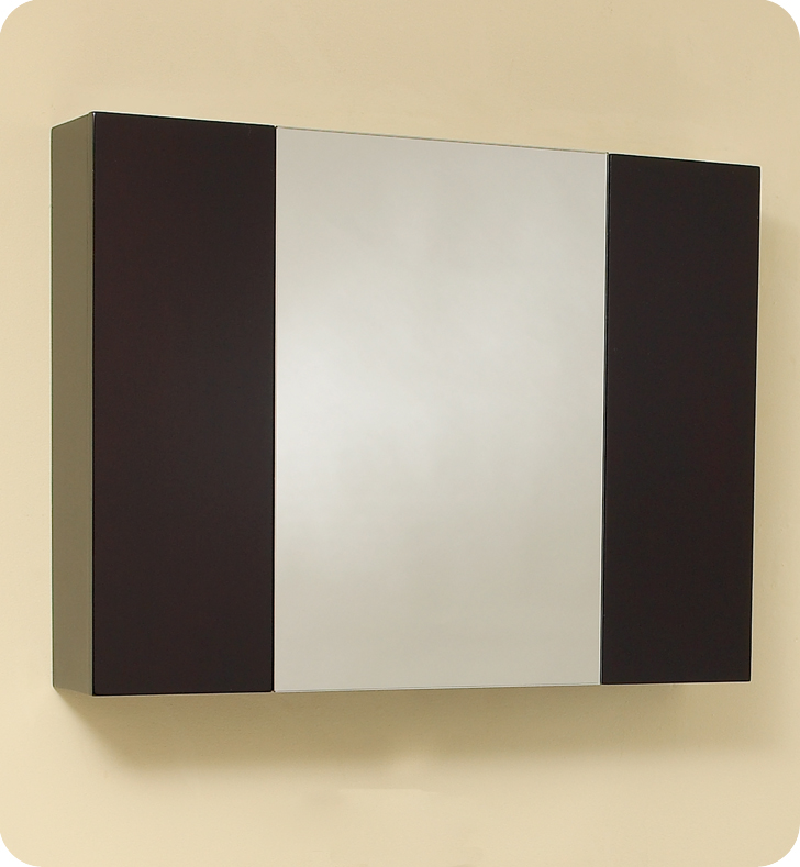 Modello 32 inch Espresso Modern Bathroom Vanity with Medicine Cabinet