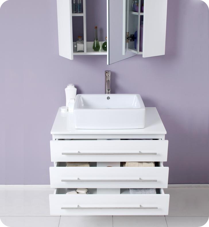 ... Modello 32 Inch White Bathroom Vanity Medicine Cabinet ...