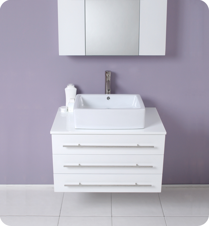 modello 32 inch white modern bathroom vanity