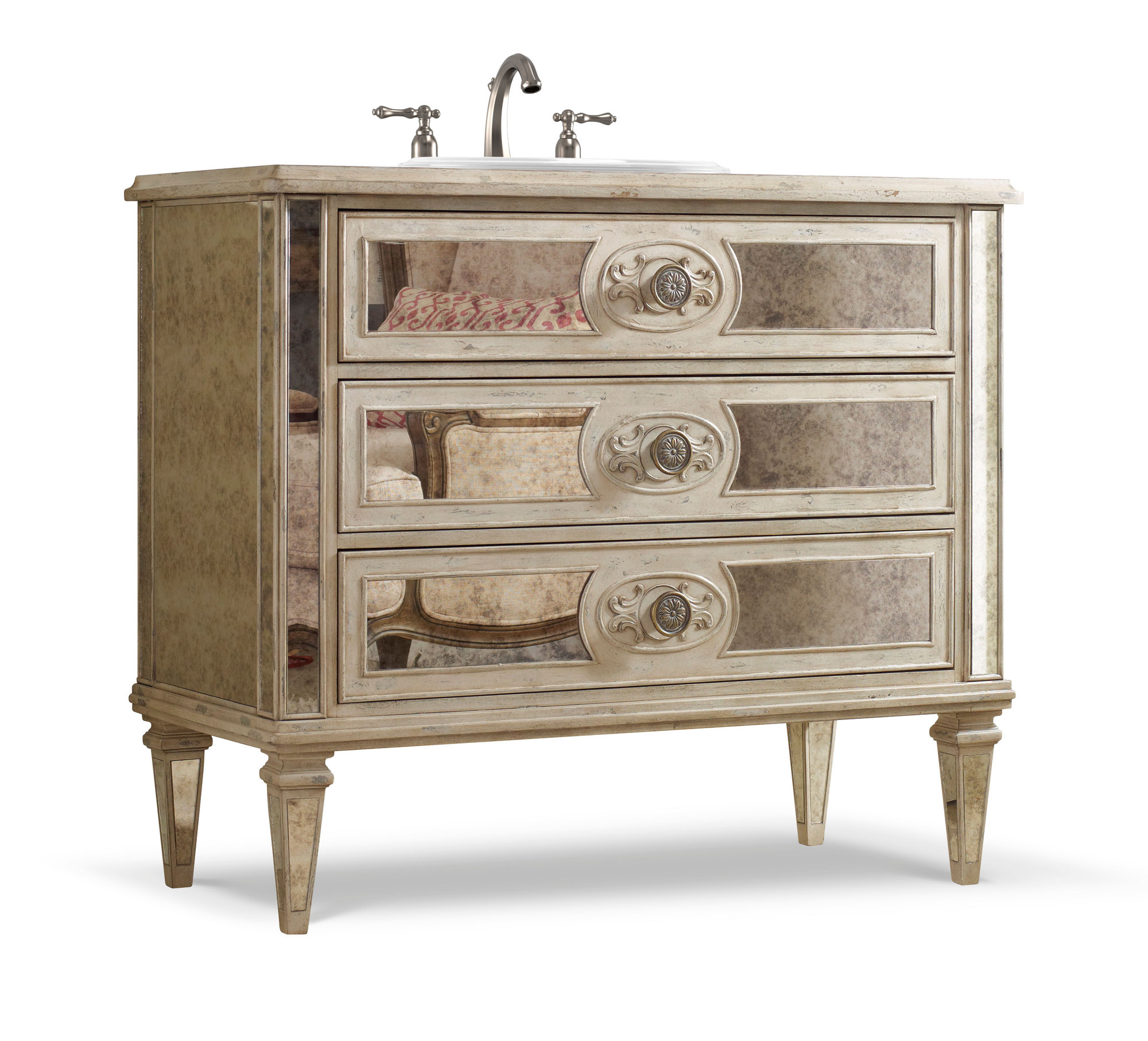 Olivia 42 inch Chest Bathroom Vanity by Cole & Co Designer Series
