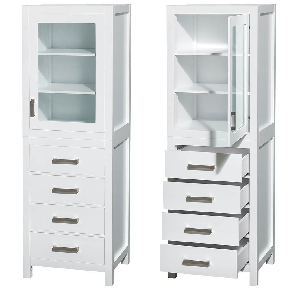 white linen cabinet for bathroom sheffield 71 inch linen bathroom cabinet white finish 24664