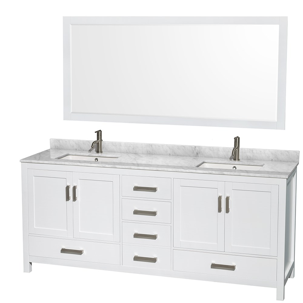 80 inch double sink bathroom vanity sheffield 80 inch sink bathroom vanity white finish 24810