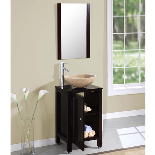 Bathroom Vanities 19 Inches Silkroad M 0006 L Single Sink Bath