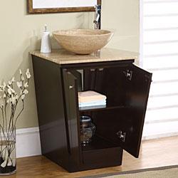 Silkroad Exclusive Vanities HYP 0155 22Art Exclusive 22 inch Single Vessel Sink Bathroom Vanities. Silkroad Exclusive Travertine Stone Top 29 Inch Bathroom Vanity. Home Design Ideas