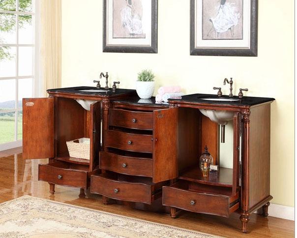 83 Inch Bathroom Vanity accord antique 83 inch double sink bathroom vanity antiqued cherry