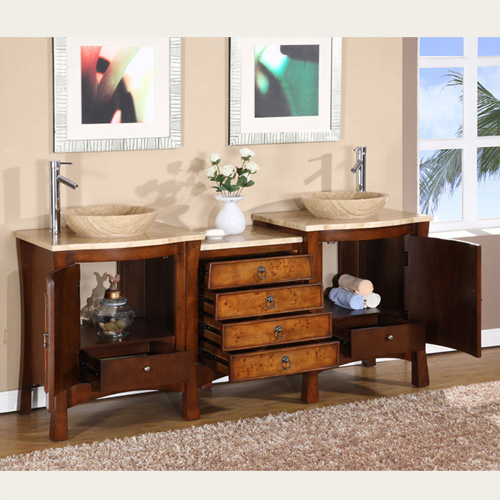 ... Silkroad Double Vessel Sink Vanity HYP 0714 72