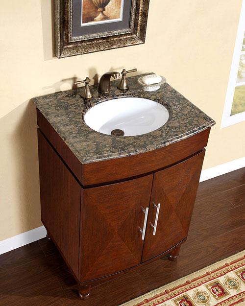 . Silkroad Exclusive 26 inch HYP 0220 BB UWC Bathroom Vanity  Baltic