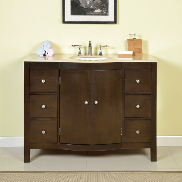 Silkroad exclusive 48 inch bathroom single sink vanity 48 inch bathroom vanity