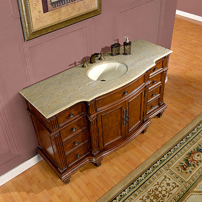 silkroad exclusive 60 inch bathroom vanity granite top