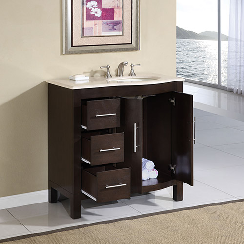 exclusive bathroom vanity cm 36 with sink inch drawers on right