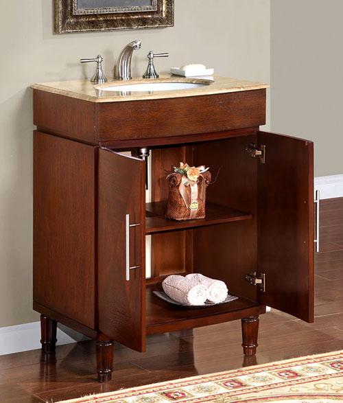 ... Silkroad Exclusive 26 Inch HYP 0220 T UWC Bathroom Vanities