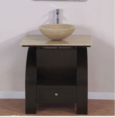Accord Contemporary 30 inch Vessel Sink Bathroom Vanity. Exclusive Kallista Bathroom Vessel Sink Vanity