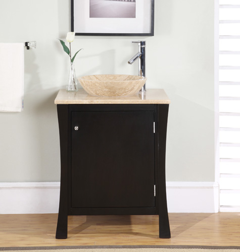 silkroad exclusive hyp-0711-26 single sink vanities
