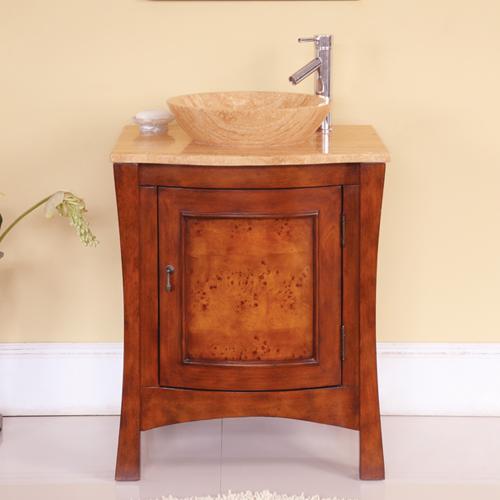 Accord Contemporary 26 Inch Single Vessel Sink Bathroom Vanities