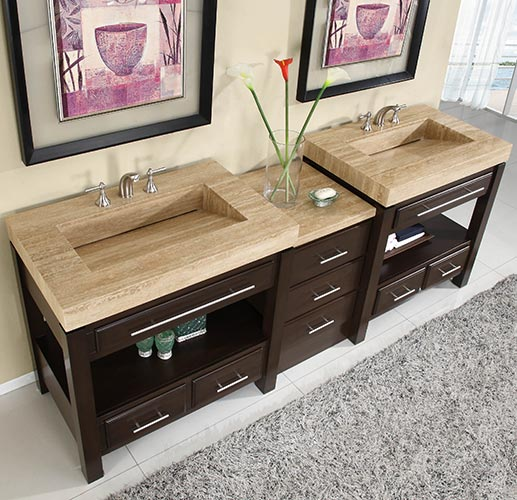 Silkroad 92 Inch Modular Double Bathroom Vanity Hyp 0218